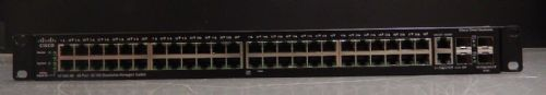 Cisco SF500-48 48-Port 10 100 + 2x SFP Port Stackable Managed Switch SF500-48-K9